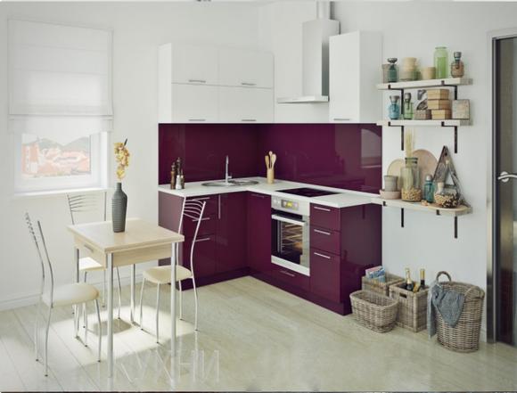 Бордо, уникальный цвет для кухни эконом класса.