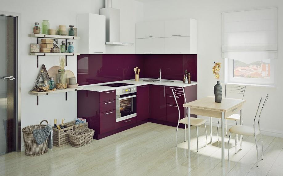 кухня угловая белая недорого