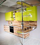 Цена на кухню № 88 Дерево и Лайм Пластик 59000 р. Цена по Акции за весь гарнитур  47000 руб.