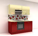 Цена на кухню № 14 Комплект Вишня-Лед 1800 мм - Фасады Пластик 19100 р по Акции цена 17763 р.