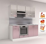 Цена на кухню  № 9 Комплект Светло-фиолетовый Страйп 1800 мм 17824 р. по Акции цена 16576 р
