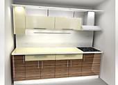 Цена на кухню в СПБ № 35 Кухня ДСП глянец 2500мм 12840 р. по Акции цена 11941 р.