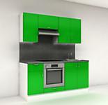 Цена на кухню № 12 Комплект Зеленый 1800 мм - Фасады Пластик Кухня № 12 19100 р по Акции цена 17763 р.