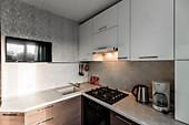 Кухонный гарнитур № 241 МДФ/коричневый/белый. Цена: 59400 руб.