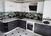 Кухонный гарнитур №207  пластик/мдф/белый/темно-серый. Цена: 64200 руб.