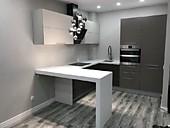 Кухонный гарнитур № 208 МДФ/серый/белый/светло-коричневый.  Цена: 39800 руб.