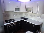 Кухонный гарнитур №219 пластик мдф/глянец/белый/темно-коричневый. Цена: 58600 руб.