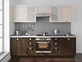 Цена на кухню № 168 Дуб и Ясень-33425 р. Цена по Акции за гарнитур 29250 руб.