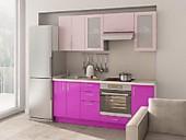 Цена на кухню № 132 Женская нежность 33600 Цена по Акции 29800 руб.
