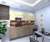 Цена на кухню № 133 Амели 37382 р. Цена по Акции за гарнитур 31500 руб.
