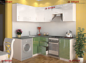 Цена на кухню № 37 Кухня в Корабль МДФ глянец угловая 1600*1900 23843 по Акции цена 20504 р.