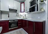 Кухонный гарнитур №201 пластик/ Матрикс жемчужный, Матрикс Бордо Цена: 69700 руб.