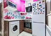 Кухонный гарнитур № 203 пластик/мдф/розовый. Цена: 39800 руб.