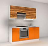 Цена на кухню № 10 Кухня прямая фасады пластик (Манго 1800 мм) 19100 р. по Акции цена 17763 р