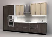 Кухня № 52 Кухня ЛДСП Сборный фасад 3800 мм  48632 р. по Акции цена 45227 р.