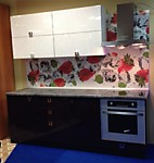 Кухня № 41 Кухня глянец Белый дождь+Баклажан 2200 мм. 26442 р. По Акции цена 24591 р .
