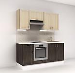 Цена на кухню в СПБ №8 Кухонный набор 1.8 м Фасады NATURE 16854 р. по Акции цена 15674 р