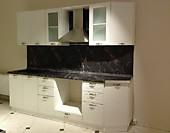 Кухня № 23 Кухня прямая фасады МДФ (Белое золото 2560) 28214р. по Акции цена  26235 р.