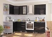 Кухня № 51 Кухня угловая высокий глянец Черная 44000 р. по Акции цена 40920 р.