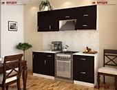 Цена на кухню в СПБ № 36 Кухня ДСП Венге 2100 мм 15078 р. по Акции цена 14022 р.