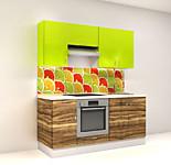Цена на кухню № 13 Комплект Цитрусы 1800 мм - Фасады Пластик 19100 р по Акции цена 17763 р.